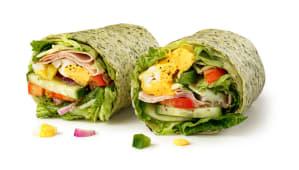 Wrap Śniadanie jajko. ser i szynka