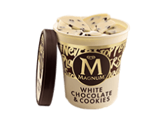 Tarrina Magnum blanco y cookie (440 ml.)