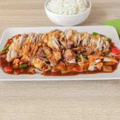 Szechuan patka, riža