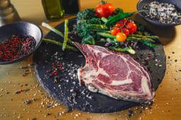 Rib eye bone in steak