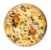 Pizza carbonara royal