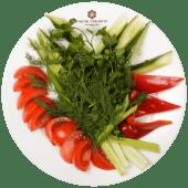 Свіжі овочі (345/35г)