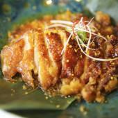Magret de pato laqueado con salsa de naranja