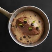 Cookie al horno con helado de dulce de leche
