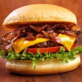 Doble bacon cheese burger supreme