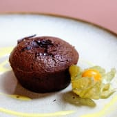 Soufflé au chocolat cu sos de vanilie
