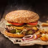 Hamburguesa americana de ternera asturiana