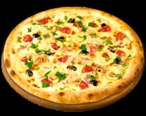 Піца з морепродуктами і тунцем