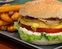 Hambúrguer Frango em Pão