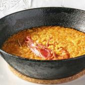 22.Caldereta de arroz con carabineros del Sur (mínimo para 2 personas)