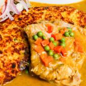 Tacu tacu con filete de pescado