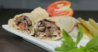 Shawarna meat & hummus