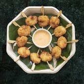 Brochetas de tempura de gambón (12 uds.)