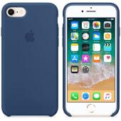 Coque Apple en Silicone Bleu Océan