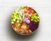 Poke Bowl Crevette Curry vert