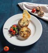 Tarta gratinata cu ciuperci si trufe