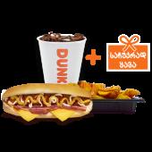 კომბო ჰოთ დოგი ბეკონით / Combo Hot Dog with Bacon