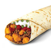 Burrito media libra carne y papa