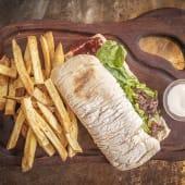 Sándwich de bife de chorizo + papas fritas