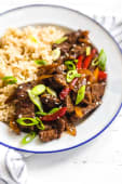 Pepper Steak -Chips & Rice