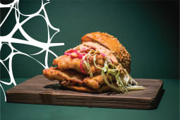 Deli fried chicken burger