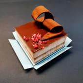 Pastel De Chocolate Amargo Crujiente (3 raciones)