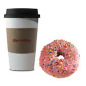 Café con leche chico + donut