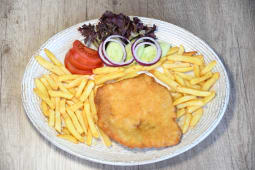 Chicken Schnitzel with a Side Dish