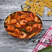 Red Sauce Pasta with Shrimp باستا بالصوص الأحمر والجمبري