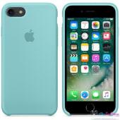 Coque Apple en Silicone Bleu Méditerranée
