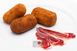 Croquetas de jamón ibérico fritas (6 uds.)
