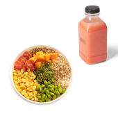 Menú ensalada my vegan protein + zumo (500 ml.)
