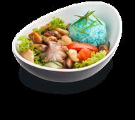 Теплий салат з морепродуктами (270г)