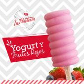 Paleta yogurt y frutos rojos