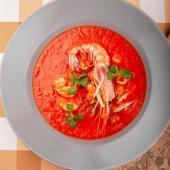 Томатний суп з морепродуктами (450г)