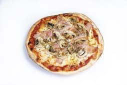 Pizza prosciutto e funghi (33 cm.)