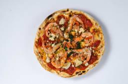 Піца Гармберетто з лососем та рікотою (550г)