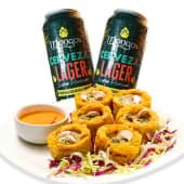 2 cervezas Mongo's + patacones