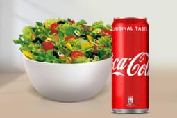Caesar Salad + Coca-Cola