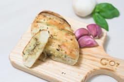 Pão de Alho com Ervas Selecionadas e Manteigas
