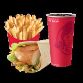 გრილზე შემწვარი ქათმის ვრაპის კომბო/Grilled Chicken Wrap Combo