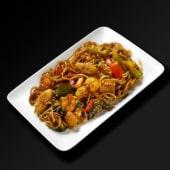 Spaghetti Bangkok Thaïlande aux fruits de mer