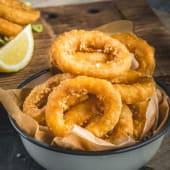 Calamares fritos veganos