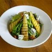 Grilled Pear & Blue Cheese Salad