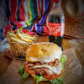 Burger Party + Coca Cola