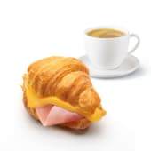 Croissant mixto + café o zumo