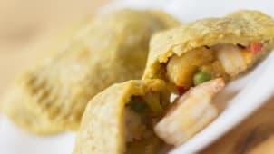 Empanada de verde con camarón (3 uds)