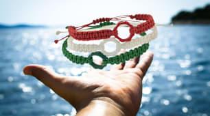 Tris bracciali tricolore
