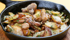 Картопля з грибами та цибулею (270г)