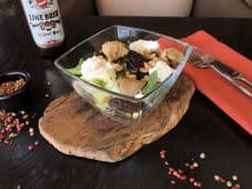 Салат из вяленой сливы и козьим сыром